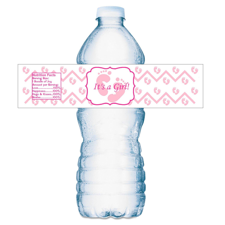 Amazon.com: 20 su una chica rosa huellas Baby Shower Fiesta ...