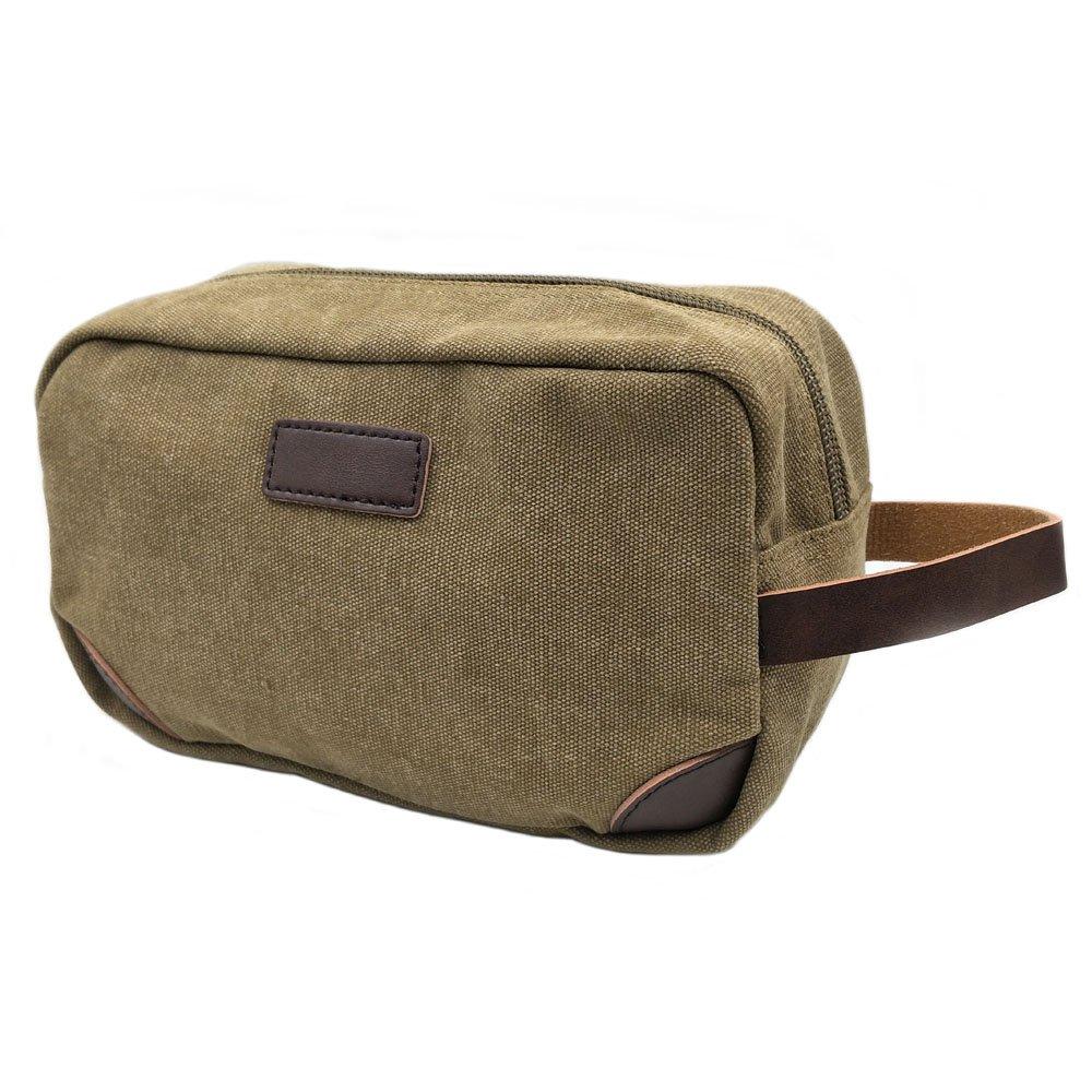 Sacchetto di toletta, tela cosmetica borsa Portable Travel Organizer vintage rasatura Dopp Kit caso appeso sacchetto di assistenza sanitaria