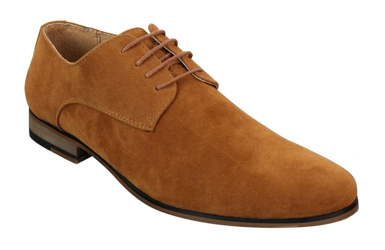 Chaussures Homme Daim Nubuck à Lacets Style Décontracté Chic Bleu Marine  Noir Brun Galax 7c0ce2c3d7fd