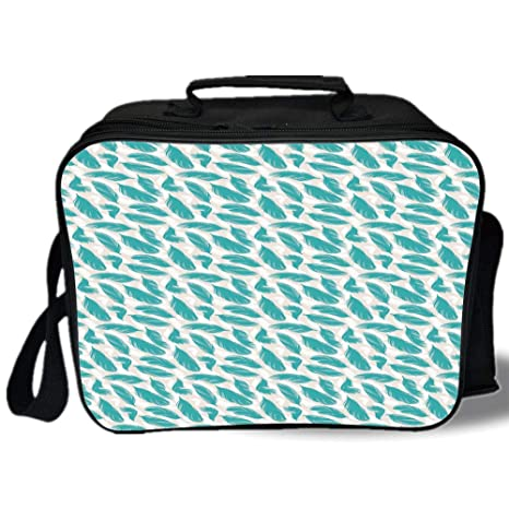 Amazon com: Insulated Lunch Bag, Turquoise, Quills Design