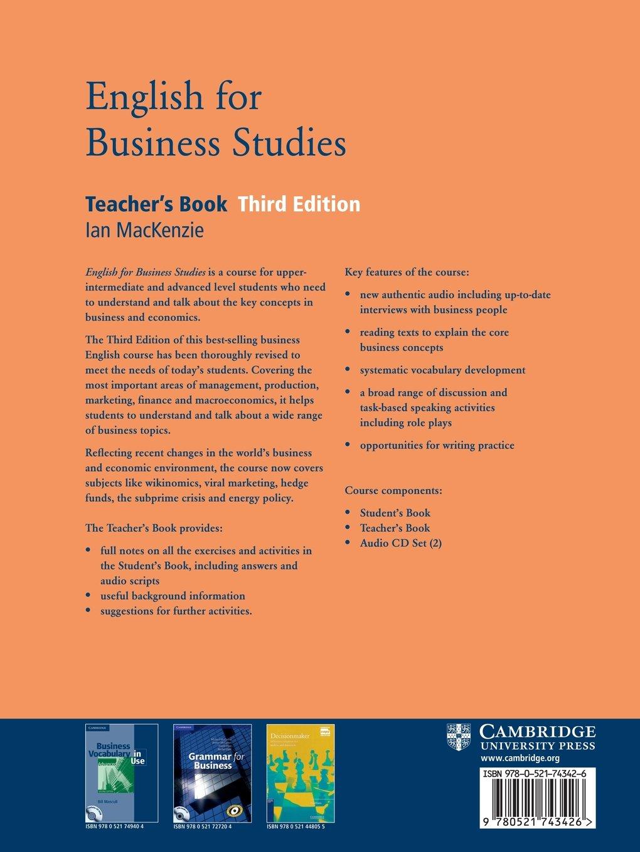 English For Business Studies Teachers Book