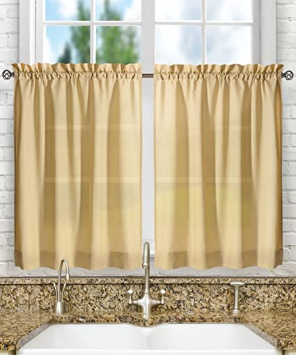 Ellis Curtain Stacey Tailored Tier Pair Curtains 56quot X 45quot