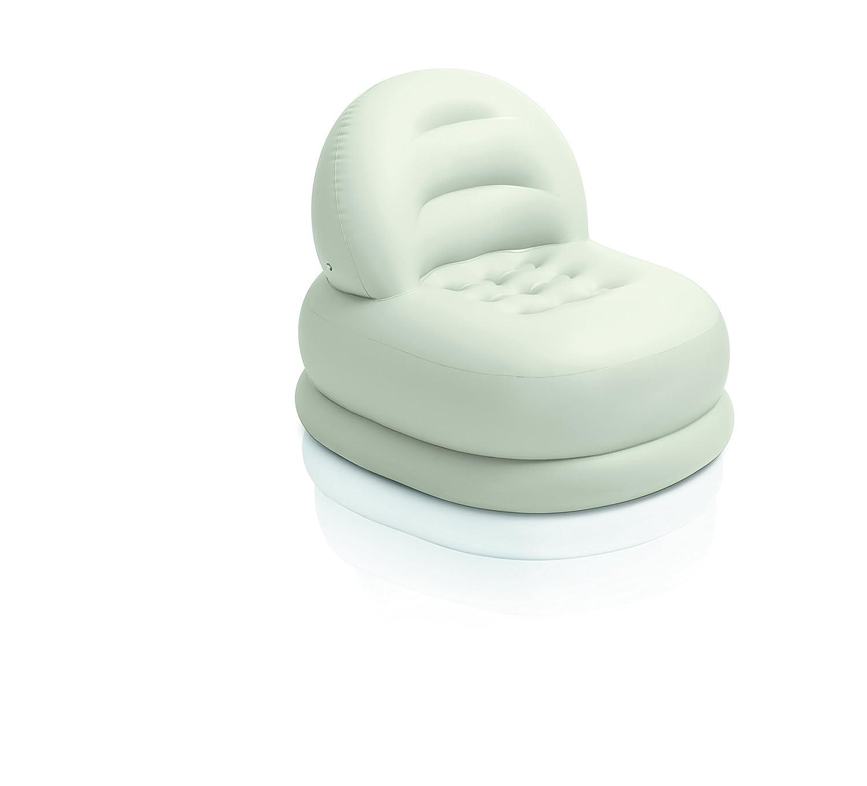 INTEX 68592NP Fauteuil Vinyle Blanc//Vert Simple