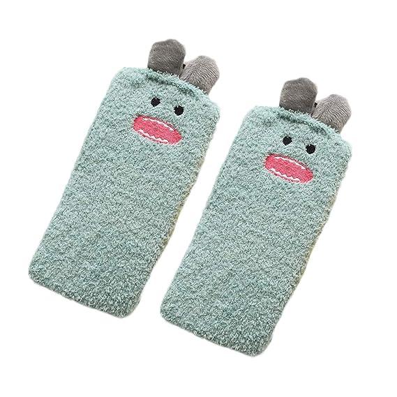 Gysad 1 par de Calcetines de toalla Calcetines de mujer Suave y comodo Calcetines de invierno