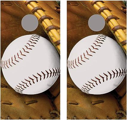 Softball Baseball Cornhole Wraps Vinyl Boards Decals Bag Toss Game Stickers