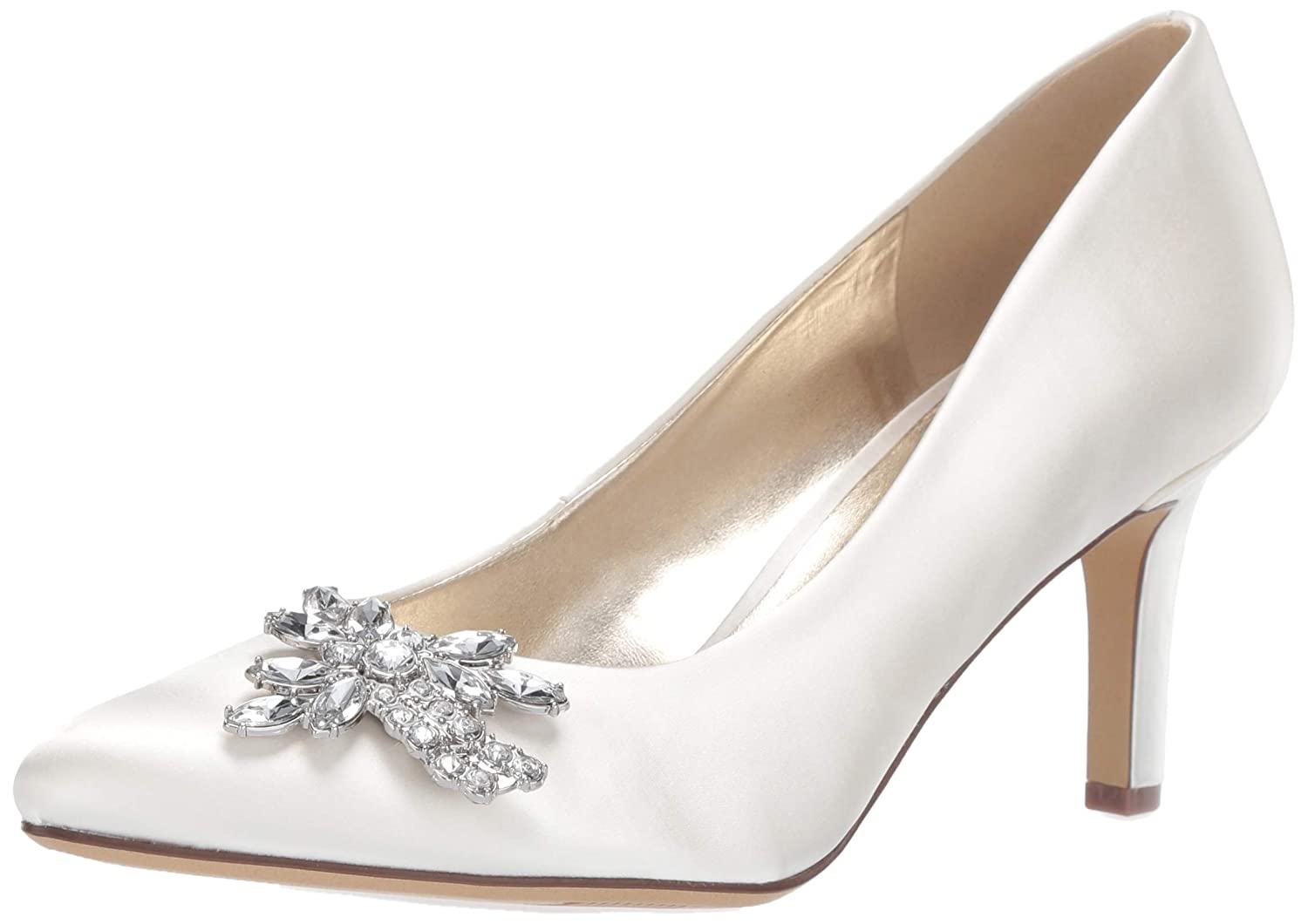 Ivory Satin Fabric Naturalizer Natalie Pumps