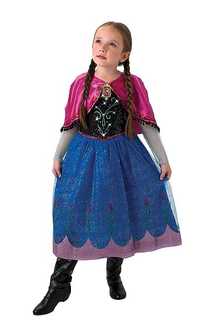 Rubies Disfraz de Anna (Frozen) para niños, oficial de Disney con música y luces – Pequeño