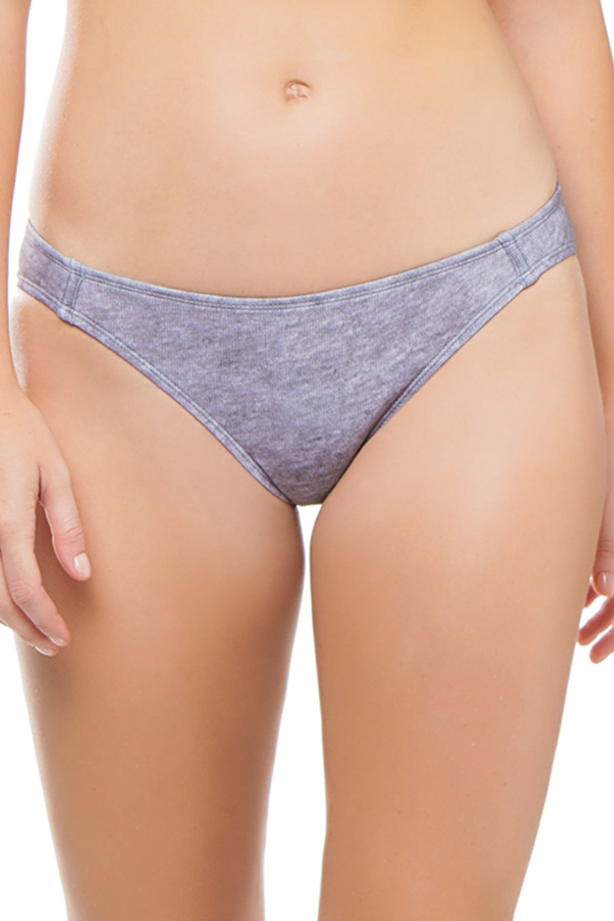 Beth Richards Women's Naomi Hipster Bikini Bottom Grey Heather L by Beth Richards