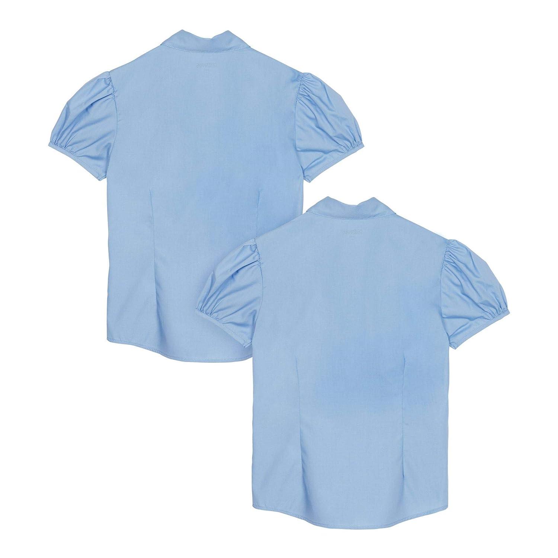 Debenhams Kids 2 Pack Girls Blue Short Sleeves Fitted Blouses
