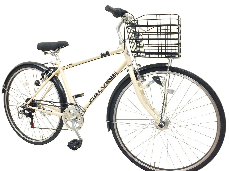 カルバイン (CALVINE) 27インチ 7段変速 LEDオートライト クロスバイク スポーツ用自転車 B017B75I7Oホワイト