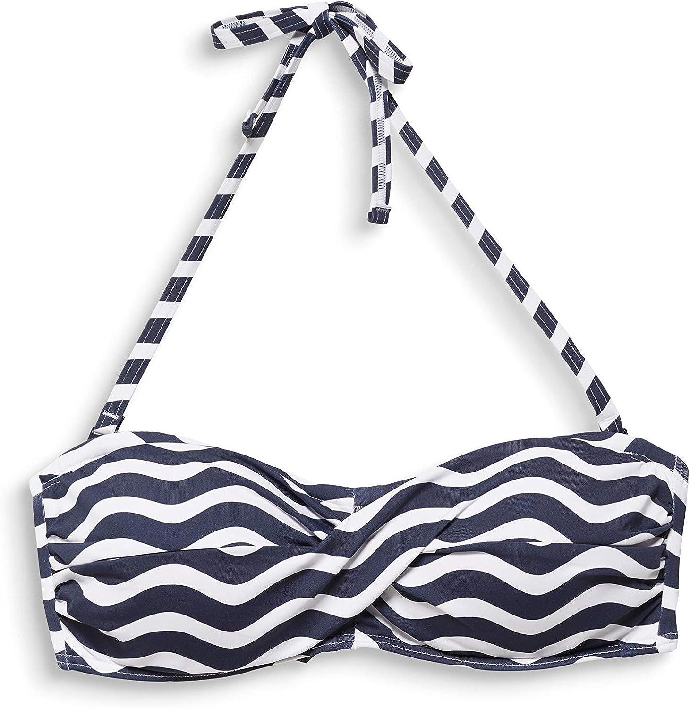 ESPRIT Candy Beach Padded Bandeau Bikini Donna