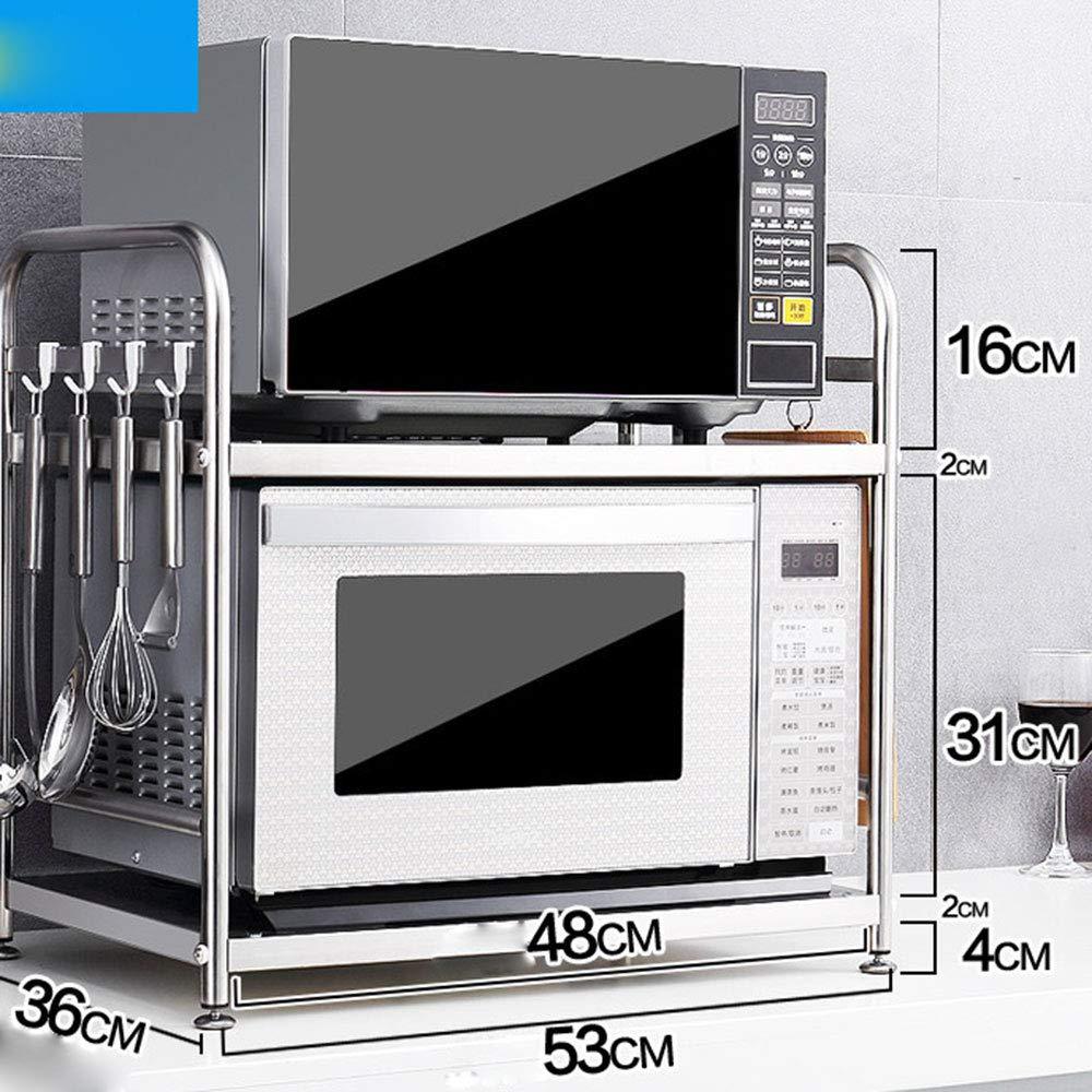 WESEASON Multi-Function Elettrodomestici da Cucina Storage Rack Stand Forno Rack Contatore Cucina E Mensola Armadio in Acciaio Inox Accuratamente Lucidato Robusto E di Sicurezza