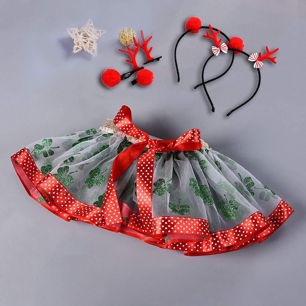 Cerchio per Capelli Ragazza Set Topgrowth Gonna Tulle Bambina Natale Tutu Gonne Balletto Lustrino Danza Festa Abiti Neonata Skirt