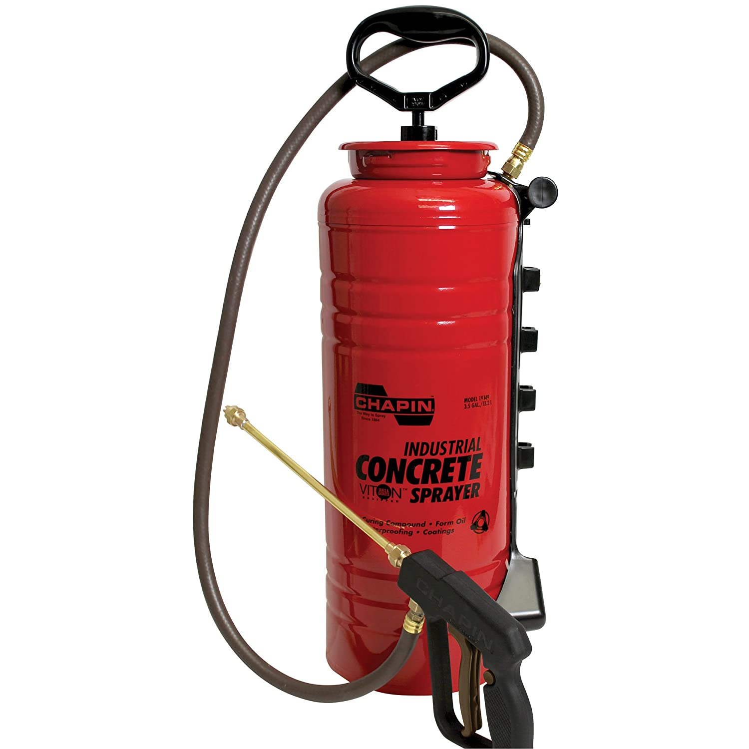 Chapin 19149 3.5-Gallon Dripless Industrial Concrete Open Head Sprayer for Professional Concrete Applications (1 Sprayer/Package)