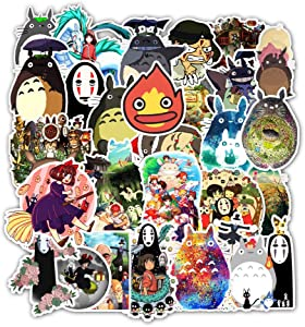 Acekar Anime My Neighbor Totoro 50 Pack Stickers for Laptops, The Office Laptop Stickers, Funny Stickers for Laptops, Computers, Hydro Flasks (My Neighbor Totoro)