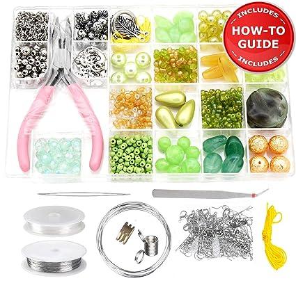 Amazon Com Modda Jewelry Making Supplies Kit Includes Over 700