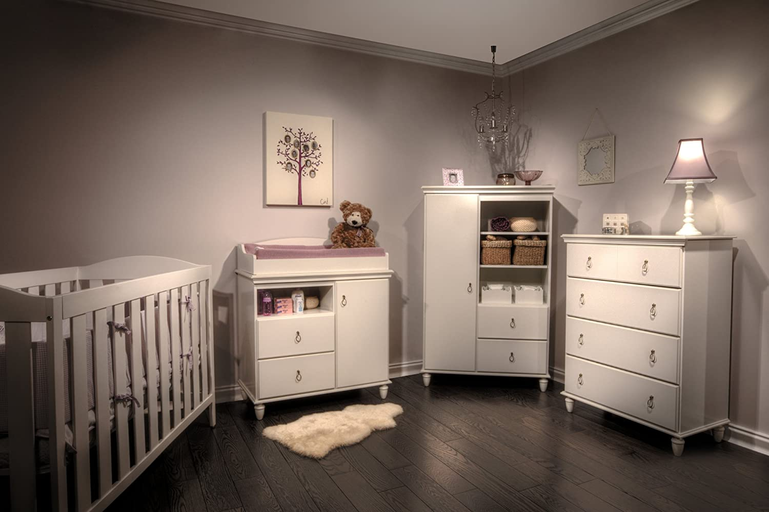 Amazon.com : South Shore Moonlight Collection Door Chest, Pure White : Nursery  Armoires : Baby