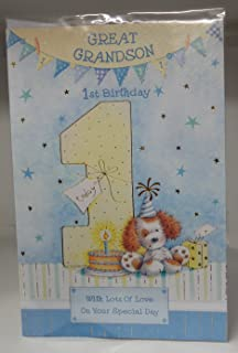 Winnie the pooh grandson on his 1st birthday card amazon great grandson 1st 1 today happy birthday card with a lovely verse bookmarktalkfo Image collections