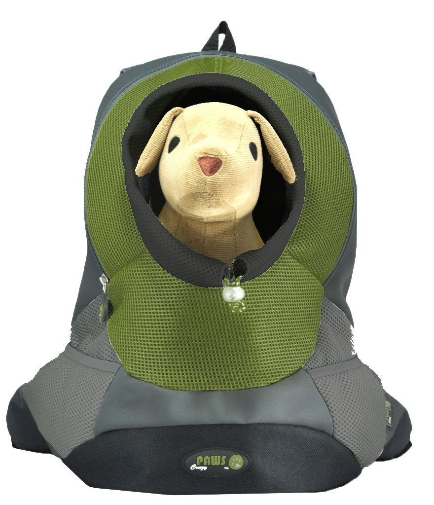 Crazy Paws  Pet Backpack Extra Large Olive