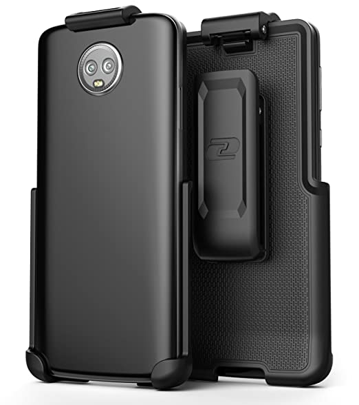 best service fb575 cf593 Moto G6 Belt Clip (case Free Design), Encased ClipMate² Non-Slip Rotating  Holster Motorola G6 (Smooth Black)