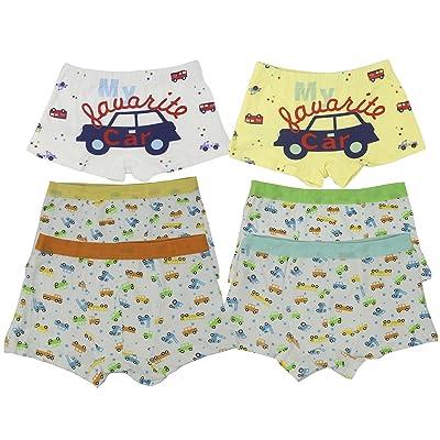 6 Pack Boys Kids Toddler Comfortable Cotton Boxer Briefs Underwear For Little Boy