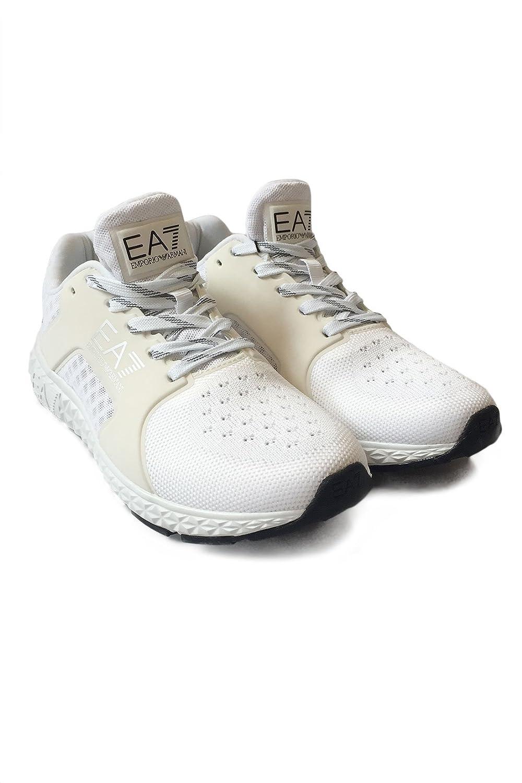 EA7 Emporio Armani Damen Turnschuhe Low Low Low C2 Light Spirit U - leichte Fitnessschuhe Laufschuhe Turnschuhe im Mesh-Design - Weiß 45e364