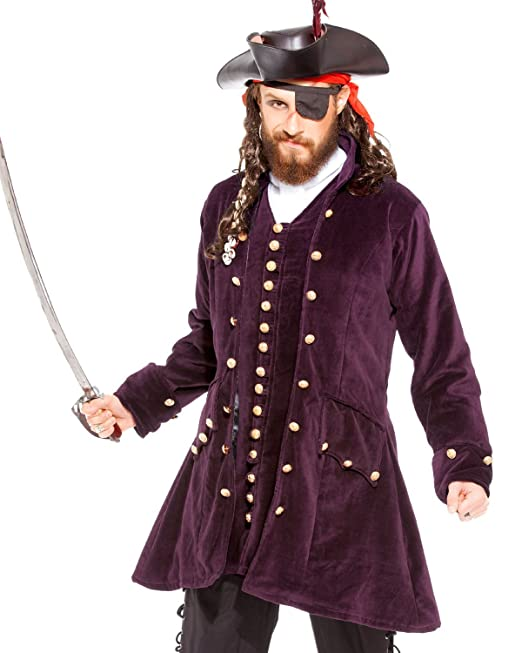 ThePirateDressing Medieval Renaissance Pirate 100% Cotton Captain Coat