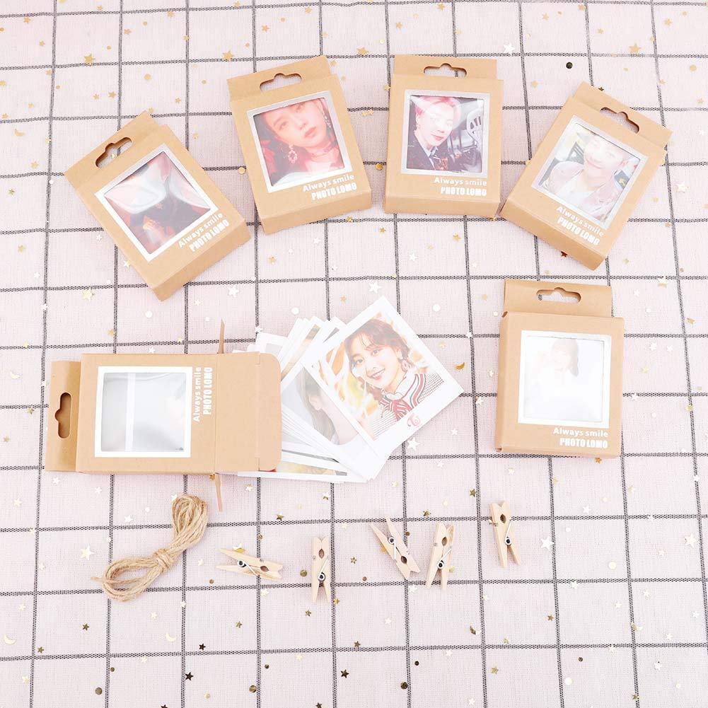 Skisneostype Kpop BTS Bangtan Boys GOT7 TWICE Soporte para tarjetas postales de fotos color H02 40 unidades