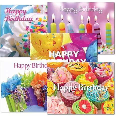 Amazon Postcards Birthday Assortment I Box Of 6012 Each Of