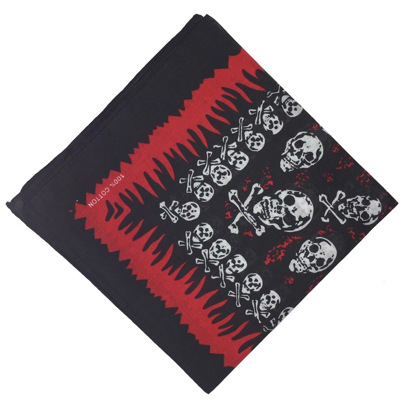 BOOLAVARD 100/% Cotton Paisley Bandana Bandanna Headwear//Hair Band Scarf Neck Wrist Wrap Band Headtie