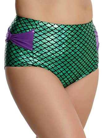 473c51b4bee44 Image Unavailable. Image not available for. Color: Disney The Little  Mermaid Ariel Swim Bottoms Plus Size