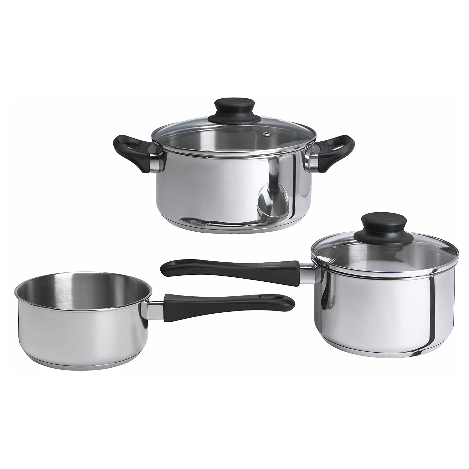 Ikea Annons 5-piece Cookware Set, Stainless Steel