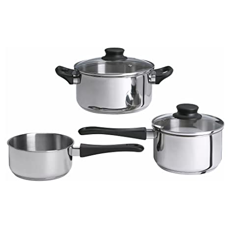 Ikea Annons 5-piece Cookware Set, Stainless Steel by Ikea: Amazon.es: Hogar