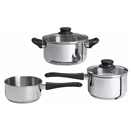 Ikea Stainless Steel Annons 5 Piece Cookware Set, Silver Pot & Pan Sets at amazon