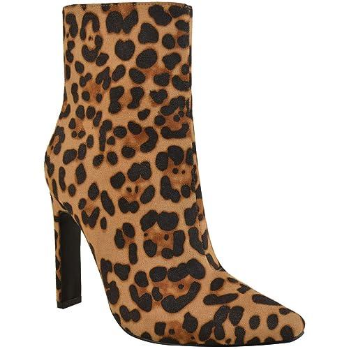 Fashion Thirsty Mujer Tacón en Bloque Alto Negro Cocodrilo Botines Elegante Trabajo Oficina Talla Sexy Talla por Heelberry: Amazon.es: Zapatos y ...