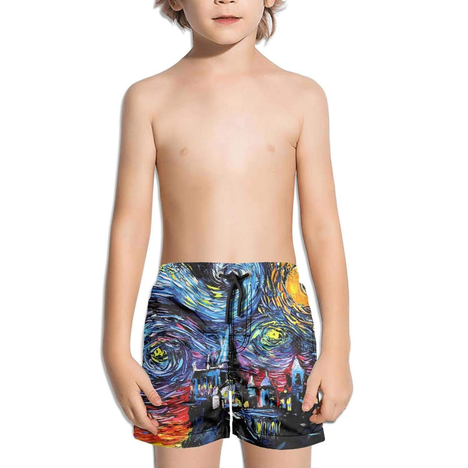 hhhuiopp Kids Extended Cool Slim Fit Stretch Board Swim Shorts