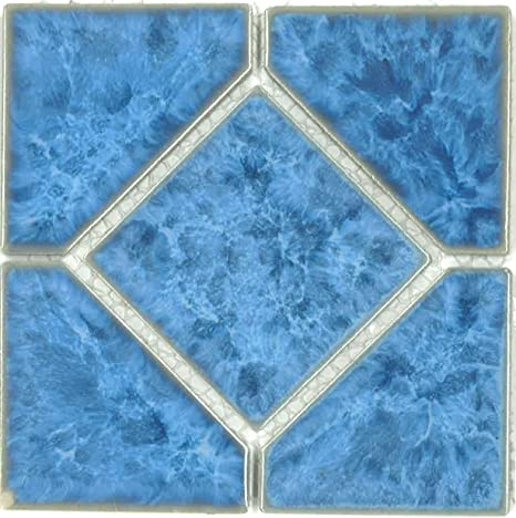 Amazon.com: Fujiwa Porcelain Swimming Pool Waterline Tile ...