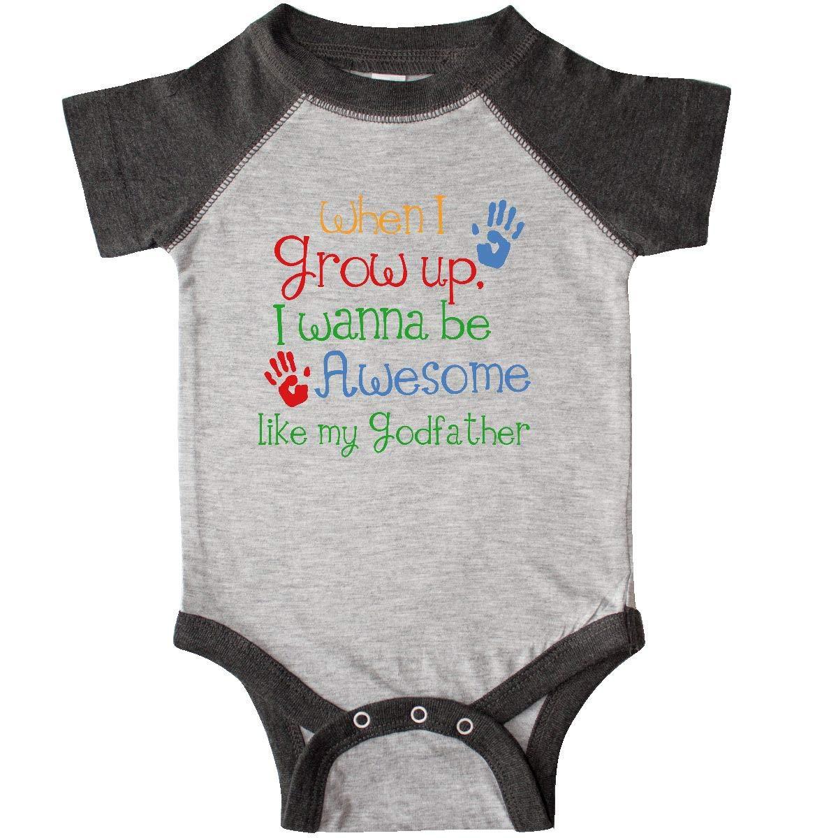 6b9aa122c Amazon.com: inktastic - Awesome Like My Godfather Infant Creeper 19b02:  Clothing