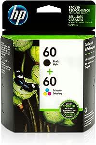 HP 60   2 Ink Cartridges   Black, Tri-color   CC640WN, CC643WN