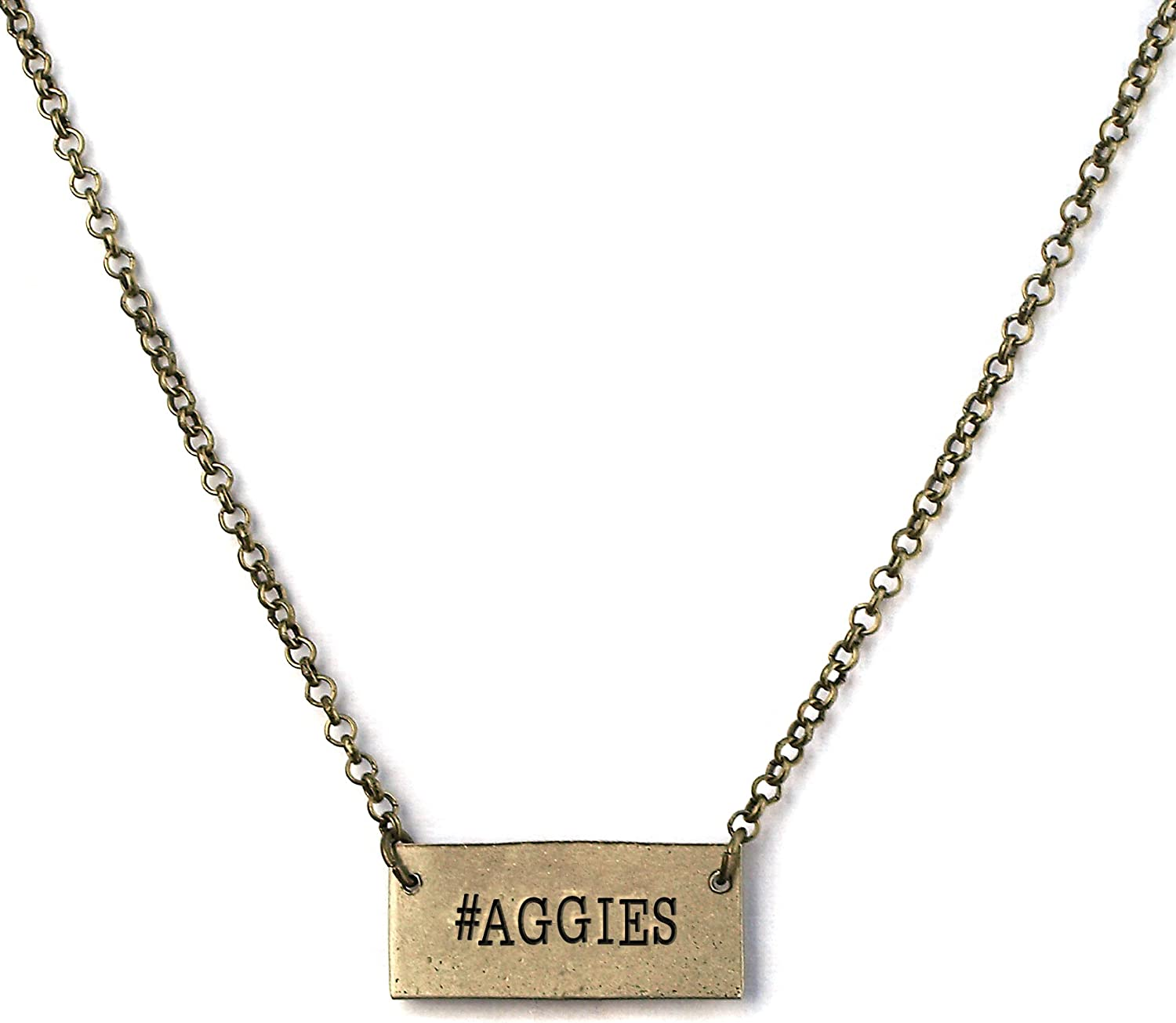 Dilworth Road Aggies Hashtag Hand Stamped Copper Necklace