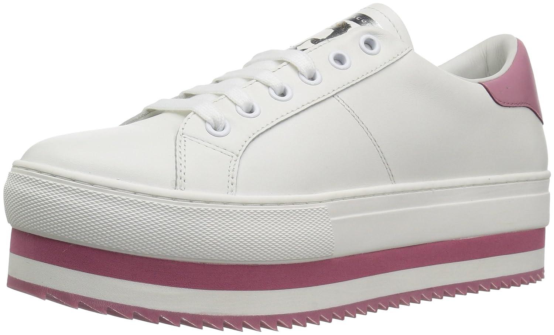Marc Jacobs Women's Grand Platform Lace up Sneaker B0733BTDHB 39 M EU (9 US)|White/Pink