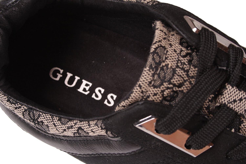 GUESS Zapatilla Deportiva con Cordones Para Hombre Negra: Amazon.es:  Zapatos y complementos