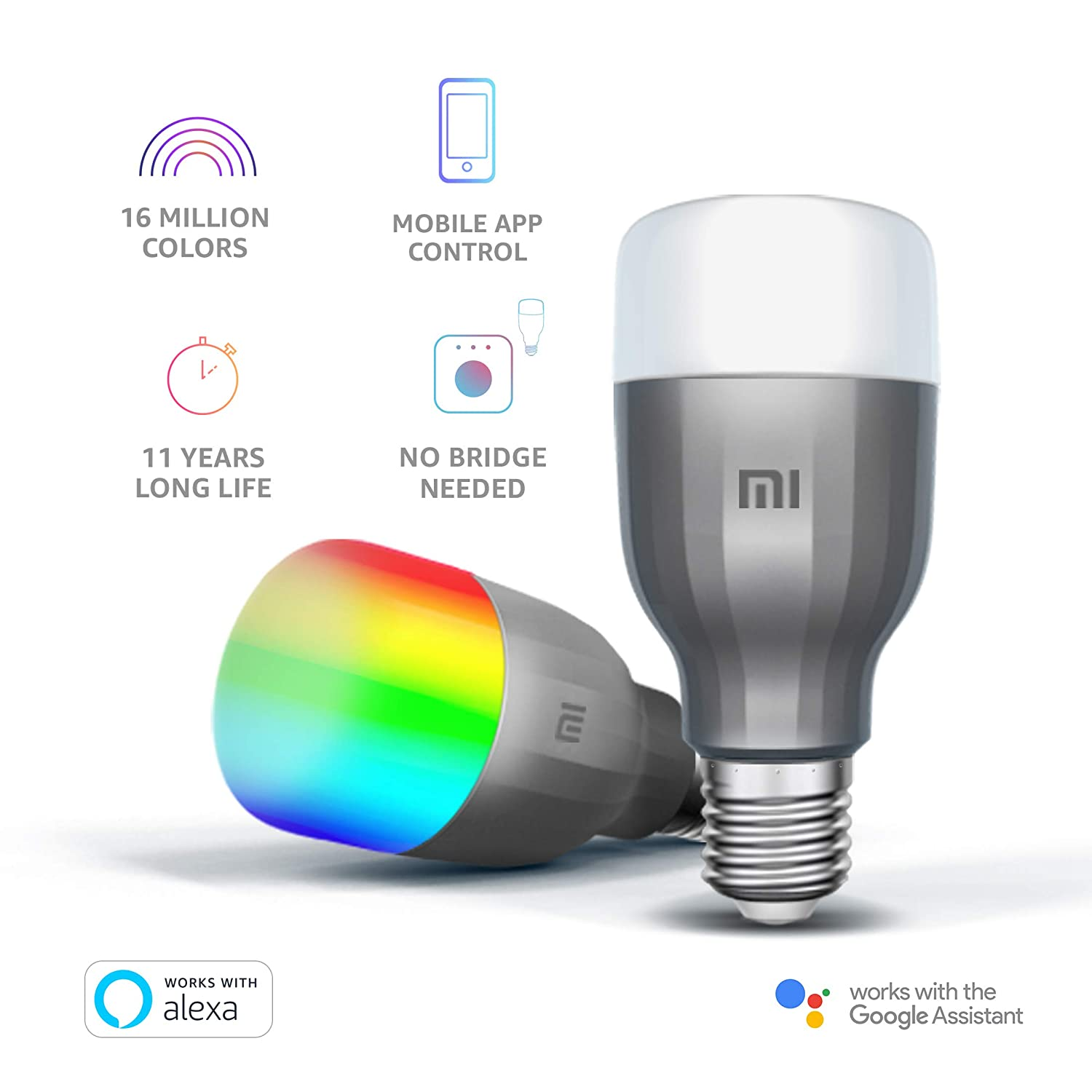Mi LED Smart Bulb(White and Color): Amazon.in: Computers & Accessories