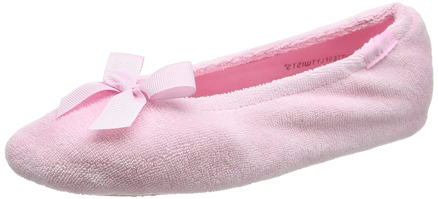 Isotoner Pantofole Terry Ballet Slipper with Spot Bow, Pantofole Isotoner Donna Rosa (Rosa (Pink)) 991e63