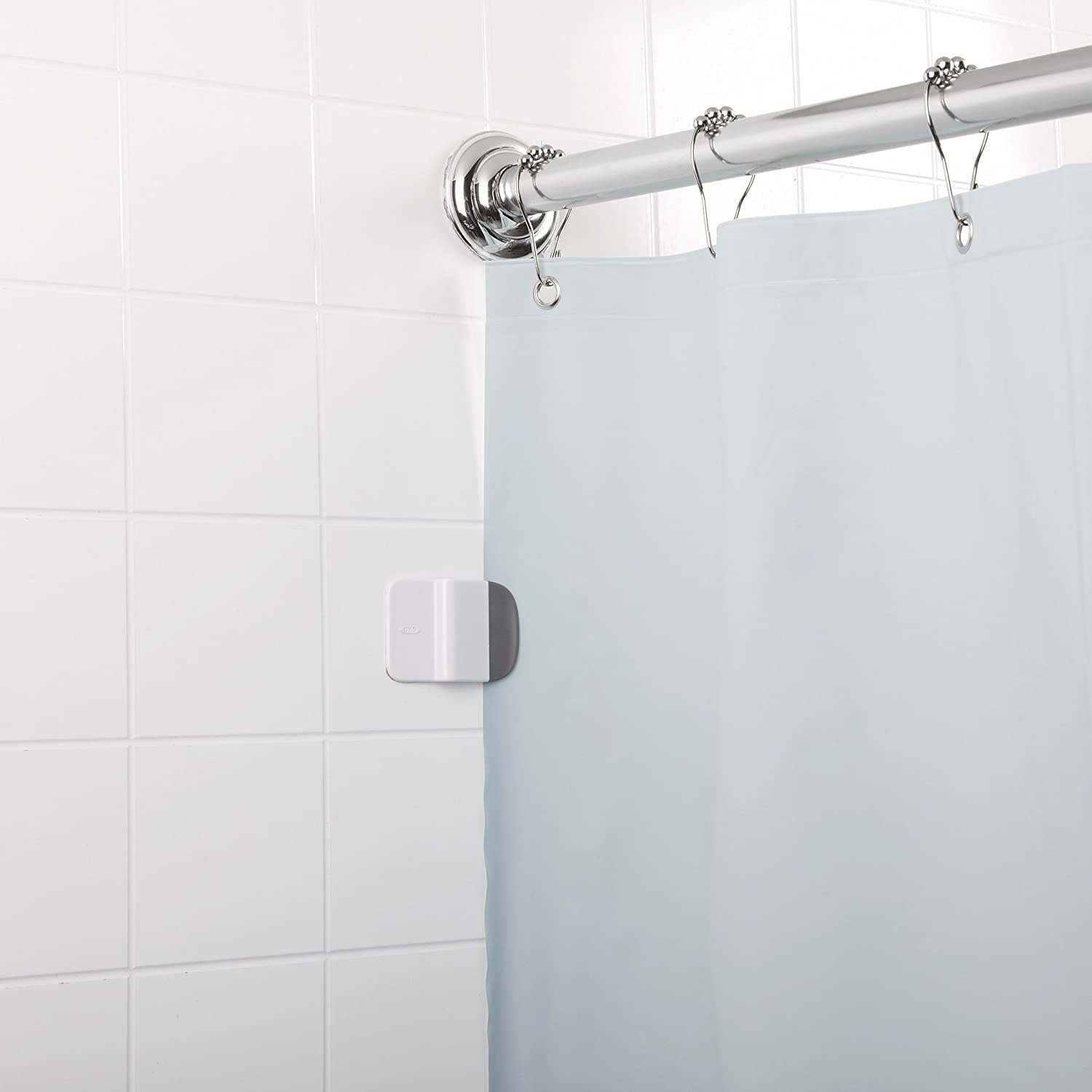 Amazon.com: OXO Good Grips Shower Curtain Liner Splash Guard Clip ...