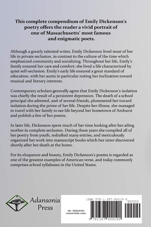 The Complete Poems Of Emily Dickinson Amazones Emily