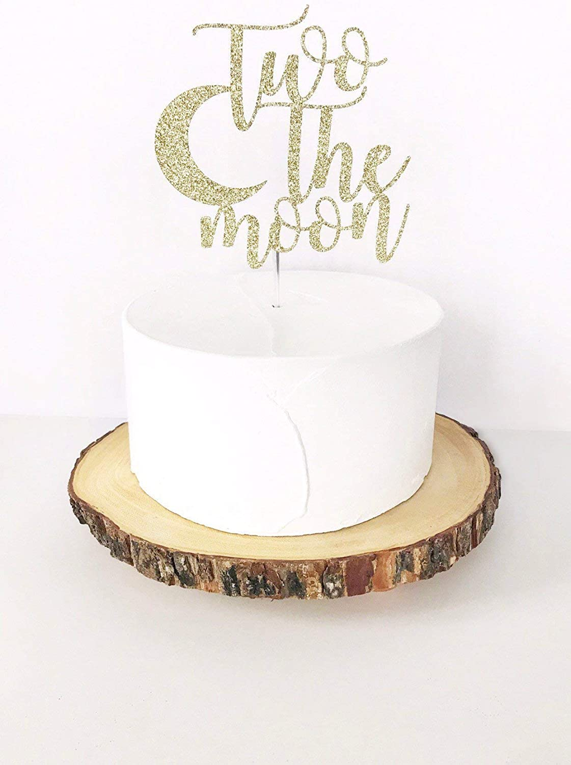 Fine Two The Moon Cake Topper 2Nd Birthday Cake Topper Two I Love Funny Birthday Cards Online Fluifree Goldxyz