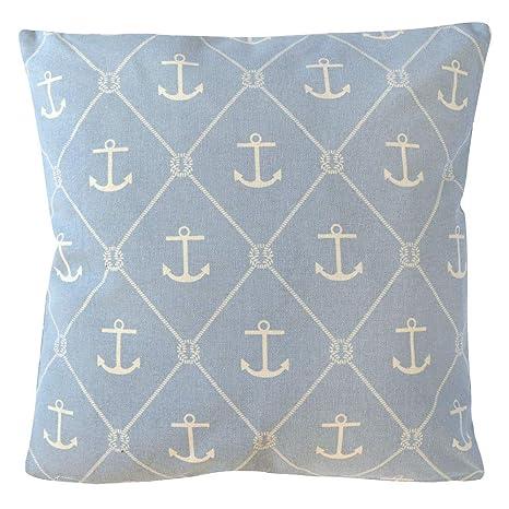 Grafelstein Cojín Seaside Color Azul Claro Azul Blanco con ...