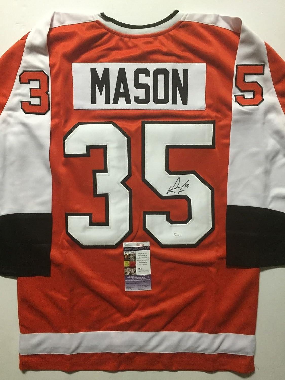 Signed bob mason picture 8x10 jsa view all bob mason - Autographed Signed Steve Mason Philadelphia Flyers Orange Hockey Jersey Jsa Coa At Amazon S Sports Collectibles Store
