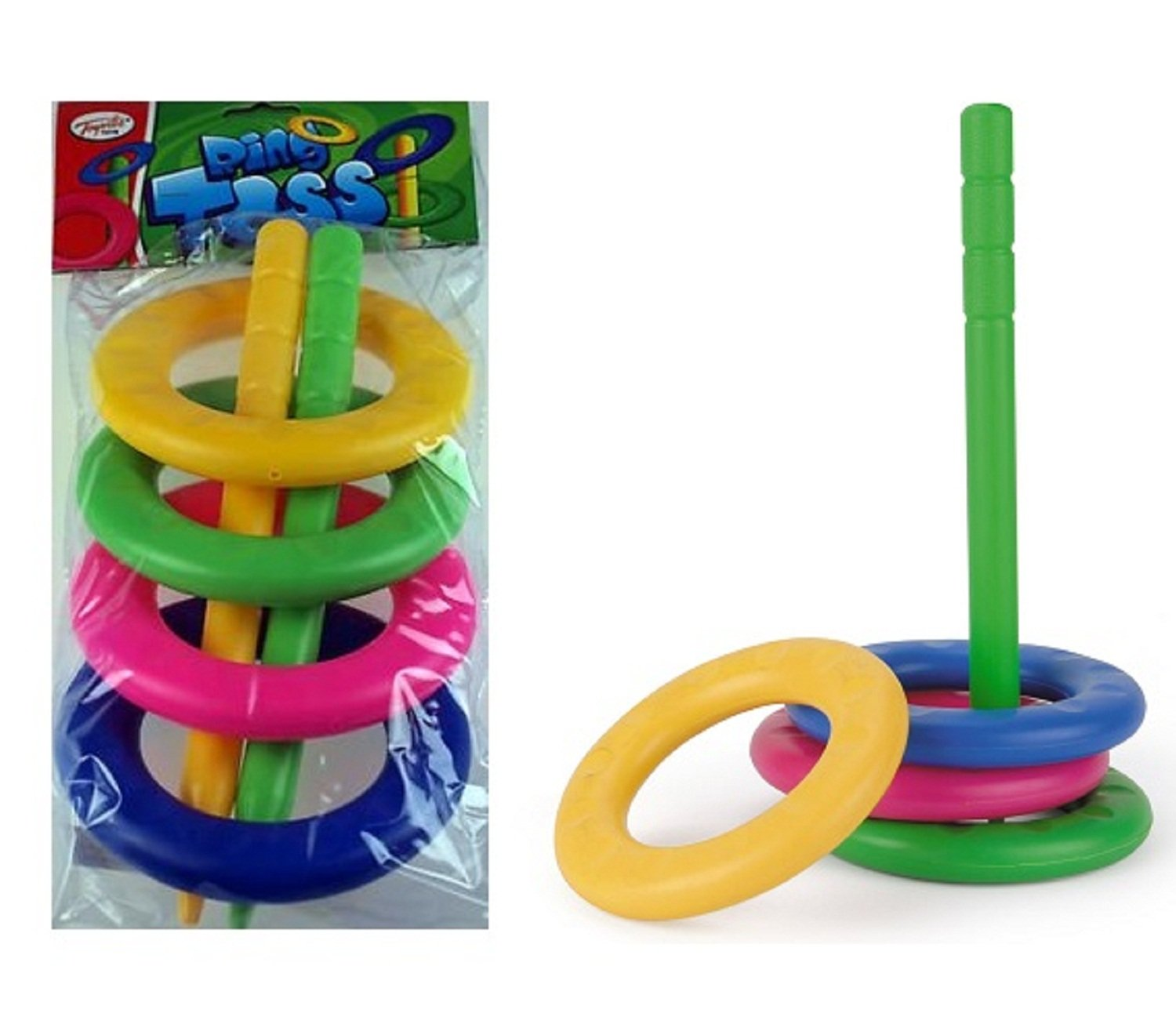 Toyrific Hoop Ring Toss Set Plastic Ring Toss Quoits Garden Game